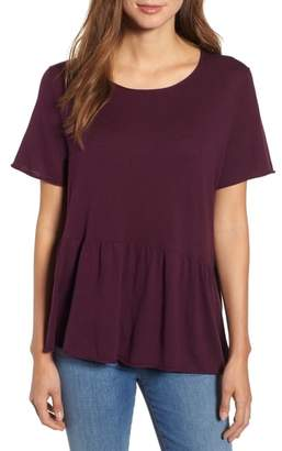 Caslon Raw Edge Peplum Top