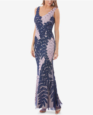JS Collections Two-Tone Soutache Gown