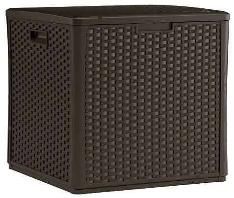 Storage Cube Resin Wicker 60 Gallon