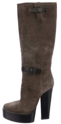Balenciaga Suede Platform Boots