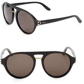 Cartier 55MM Round Aviator Sunglasses
