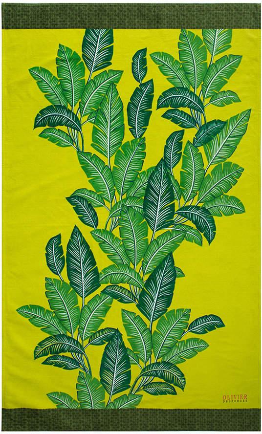 Olivier Desforges - Havana Beach Towel - Citron