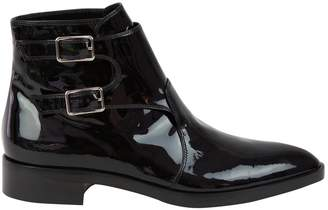 Gianvito Rossi Patent leather buckled boots