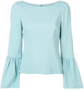 Tibi bell sleeve corset blouse