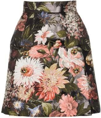 5ea9859af3b Dolce & Gabbana Flower Print Skirt