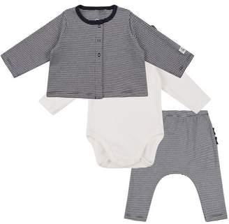 Petit Bateau Bodysuit, Leggings and T-Shirt Set
