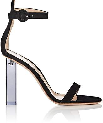 Gianvito Rossi Women's Elias Suede Ankle-Strap Sandals