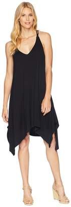 American Rose Taya Spaghetti Strap Dress with Crocheted Back Women's Dress