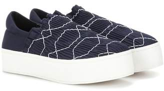 Opening Ceremony Cici smocked platform slip-on sneakers