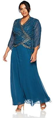 J Kara Blue Plus Size Dresses - ShopStyle