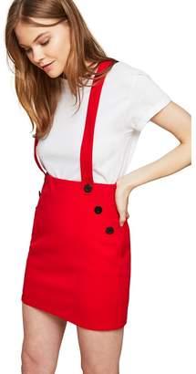 Miss Selfridge Red Brace Mini Skirt