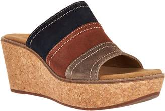 Clarks Artisan Nubuck Leather Wedge Sandals - Aisley Lily