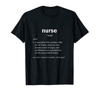 Nurse Definition T-shirt Funny Caregiver Gift Tee