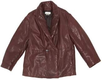 Etoile Isabel Marant Burgundy Leather Jackets