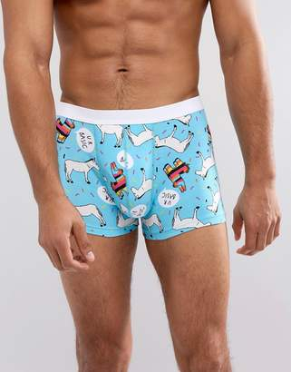 Asos Trunks In Donkey Print