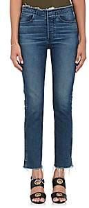 3x1 Women's W4 Raw Edge Shelter Slim Jeans-Dk. Blue