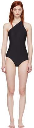 Acne Studios Black Karmo Solid Single-Shoulder Swimsuit
