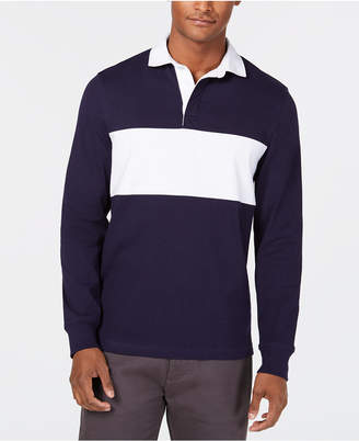 Club Room Men's Colorblocked Rugby Shirt