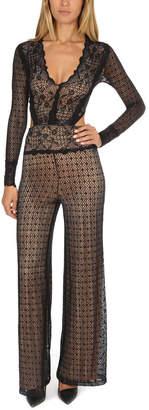 Nightcap Clothing Mesh Lace Jumpsuit