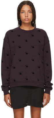 McQ Purple Swallow Slouch Sweatshirt