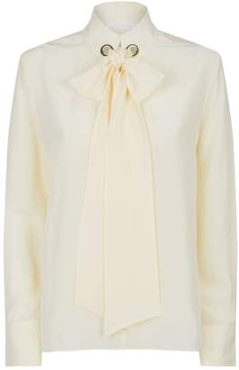 Chloé Tied Neck Silk Blouse