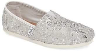 TOMS Classic Lace Glitz Slip-On Shoe - Wide Width $59 thestylecure.com