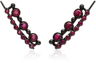 Colette Jewelry 18K Black Gold Stone Ear Cuffs