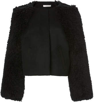 Yeon M'O Exclusive Myrto Cropped Wool-Blend Jacket