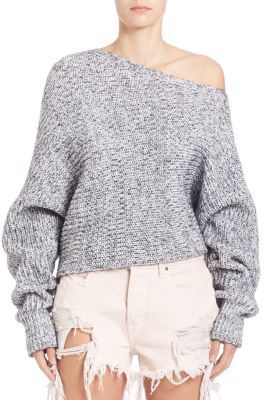 T by Alexander Wang Asymmetric Long Sleeve Top $315 thestylecure.com