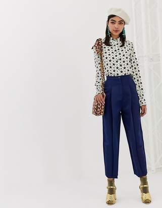 Sister Jane tailored pants in luxe satin