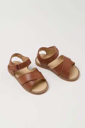 H&M Leather Sandals - Beige