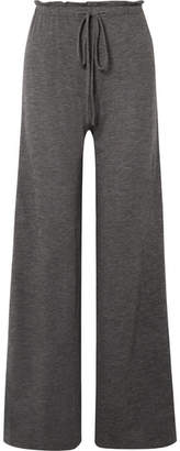 The Row Elisia Cashmere-blend Wide-leg Pants - Dark gray