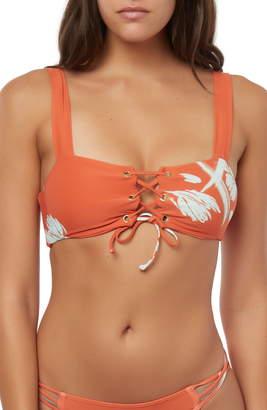 O'Neill Slater Lace-Up Bikini Top