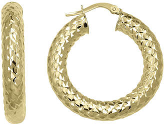 FINE JEWELRY Made in Italy 14K Yellow Gold Round Hoop Earrings
