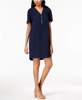 Trina Turk Zipper-Trim Shirtdress