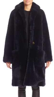 Helmut Lang Teddy Long Shearling Coat $2,495 thestylecure.com