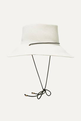 CLYDE Gambler Rope-trimmed Straw Hat - Off-white