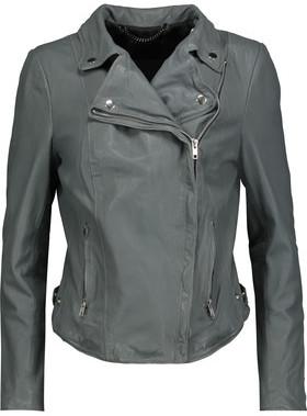 Muubaa Monteria Leather Biker Jacket $527 thestylecure.com