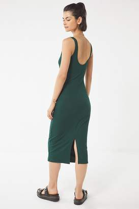 Urban Outfitters Bella Ribbed Knit Bodycon Midi Dress