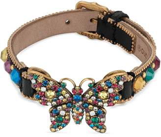 Gucci Leather bracelet with butterfly