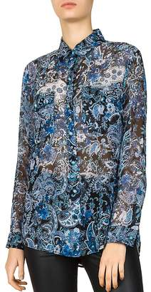 The Kooples Paisley Print Silk Shirt