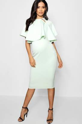 boohoo Maternity Double Layer Wiggle Dress