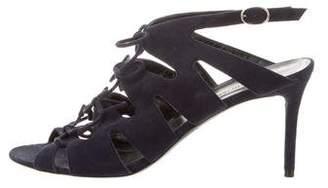 Balenciaga Suede Cutout Sandals