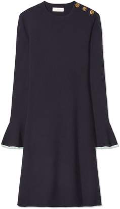 Tory Burch FLARE-SLEEVE SWEATER DRESS