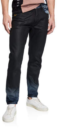 "Diesel Men's ""Mharky"" Slim Coated Denim Jeans"