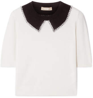 Michael Kors Embellished Cashmere Sweater - Off-white