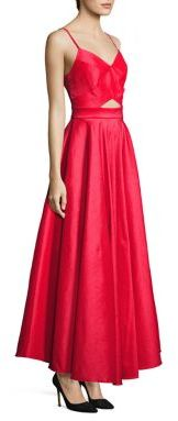 Laundry by Shelli Segal Taffeta Cutout Gown $295 thestylecure.com