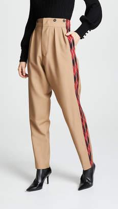 No.21 No. 21 Combo Plaid Pants