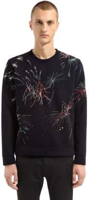 Valentino Fireworks Embroidered Viscose Sweatshirt