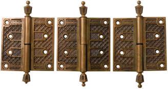 Rejuvenation Set of 3 Ornate Victorian Door Hinges